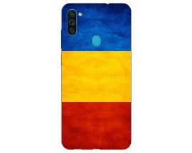 Husa Silicon Soft Upzz Print Samsung Galaxy M11 Tricolor