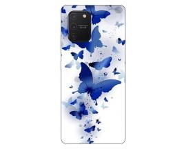 Husa Silicon Soft Upzz Print Samsung Galaxy S10 Lite Model Blue Butterflies