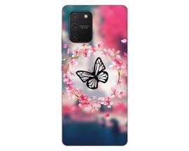 Husa Silicon Soft Upzz Print Samsung Galaxy S10 Lite Model Butterfly