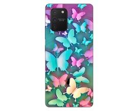 Husa Silicon Soft Upzz Print Samsung Galaxy S10 Lite Model Colorfull Butterflies