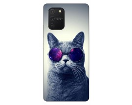 Husa Silicon Soft Upzz Print Samsung Galaxy S10 Lite Model Cool Cat