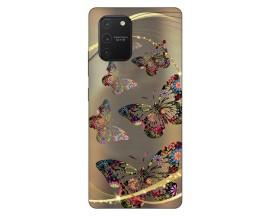 Husa Silicon Soft Upzz Print Samsung Galaxy S10 Lite Model Golden Butterfly