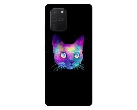 Husa Silicon Soft Upzz Print Samsung Galaxy S10 Lite Model Neon Cat