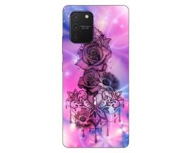 Husa Silicon Soft Upzz Print Samsung Galaxy S10 Lite Model Neon Rose
