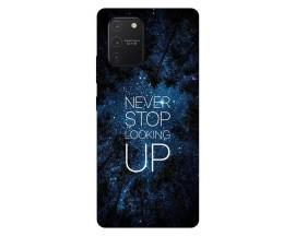 Husa Silicon Soft Upzz Print Samsung Galaxy S10 Lite Model Never Stop