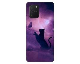 Husa Silicon Soft Upzz Print Samsung Galaxy S10 Lite Model Shadow Cat