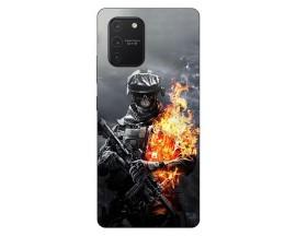 Husa Silicon Soft Upzz Print Samsung Galaxy S10 Lite Model Soldier