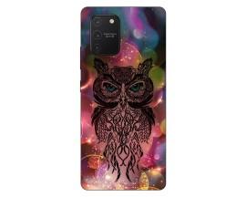 Husa Silicon Soft Upzz Print Samsung Galaxy S10 Lite Model Sparkle Owl