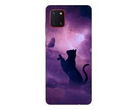 Husa Silicon Soft Upzz Print Samsung Galaxy Note 10 Lite Model Shadow Cat