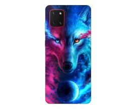 Husa Silicon Soft Upzz Print Samsung Galaxy Note 10 Lite Model Wolf