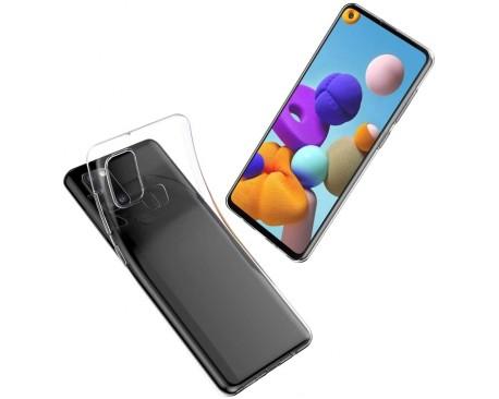 Husa Slim Upzz  Tech Compatibila Cu Samsung Galaxy A21s,  Transparenta Slim Silicon