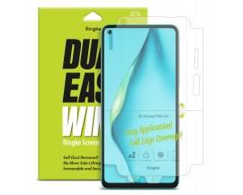 Folie Premium Full Cover Ringke Dual Easy Huawei P40 Lite Transparenta -2 Bucati In Pachet