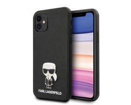 Husa Premium Originala Karl Lagerfeld KLHCN61IKFBMBK iPhone 11 Saffiano Ikonik - Negru