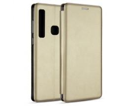 Husa Flip Carte Cu Magnet Lux Upzz Samsung Galaxy A21 ,gold