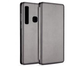 Husa Flip Carte Cu Magnet Lux Upzz Samsung Galaxy A21,silver