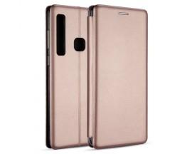 Husa Flip Carte Cu Magnet Lux Upzz Samsung Galaxy A21,rose Gold