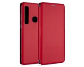 Husa Flip Carte Cu Magnet Lux Upzz Samsung Galaxy A21,rosu