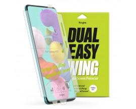 Folie Premium Full Cover Ringke Dual Easy Samsung A51 Transparenta -2 Bucati In Pachet