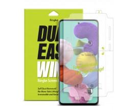 Folie Premium Full Cover Ringke Dual Easy Samsung A71 Transparenta -2 Bucati In Pachet