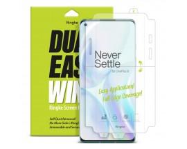 Folie Premium Full Cover Ringke Dual Easy OnePlus 8 Transparenta -2 Bucati In Pachet