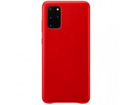 Husa Premium Upzz No Logo Soft Silicon Compatibila Cu Samsung Galaxy S20 ,Invelis Alcantara La Interior ,Rosu