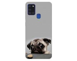Husa Silicon Soft Upzz Print Samsung Galaxy A21s Model Dog