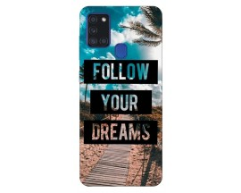 Husa Silicon Soft Upzz Print Samsung Galaxy A21s Model Dreams