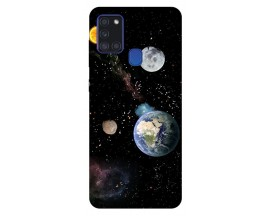 Husa Silicon Soft Upzz Print Samsung Galaxy A21s Model Earth