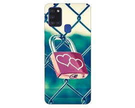 Husa Silicon Soft Upzz Print Samsung Galaxy A21s Model Heart Lock