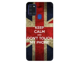 Husa Silicon Soft Upzz Print Samsung Galaxy A21s Model Keep Calm