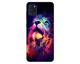 Husa Silicon Soft Upzz Print Samsung Galaxy A21s Model Neon Lion