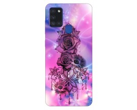Husa Silicon Soft Upzz Print Samsung Galaxy A21s Model Neon Rose