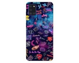Husa Silicon Soft Upzz Print Samsung Galaxy A21s Model Neon