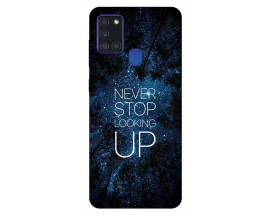 Husa Silicon Soft Upzz Print Samsung Galaxy A21s Model Never Stop