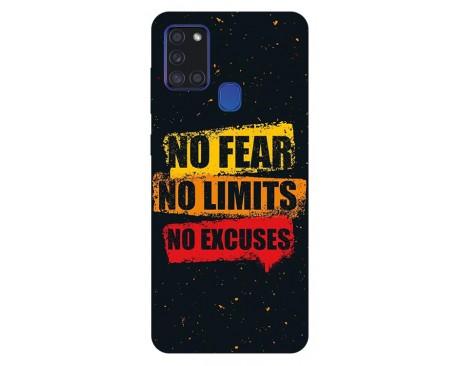 Husa Silicon Soft Upzz Print Samsung Galaxy A21s Model no Fear