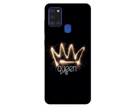 Husa Silicon Soft Upzz Print Samsung Galaxy A21s Model Queen