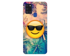 Husa Silicon Soft Upzz Print Samsung Galaxy A21s Model Smile