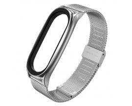 Curea Premium Upzz Tech Milaneseband Compatibila Cu Xiaomi Mi Band 5 , Silver
