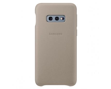 Husa Premium Originala Samsung Leather Pentru Samsung Galaxy S10e Gri