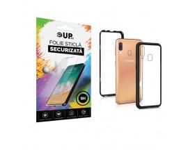 Pachet Husa Magneto Glass Magnetica Compatibila Cu Samsung Galaxy A40 si Folie Sticla Upzz Glass ,Transparenta