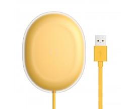 Incarcator Premium De Birou Wireless Baseus Jelly Qi 15W Usb -Usb Type C ,Galben