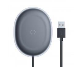 Incarcator Premium De Birou Wireless Baseus Jelly Qi 15W Usb -Usb Type C , Negru