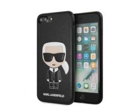 Husa Premium Originala Karl Lagerfeld iPhone 7 Plus / 8 Plus Karl Emossed,piele ,negru - KLHCI8LIKPUBK