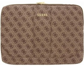 Husa Originala Guess Sleeve Leather Compatibila Cu Laptop/Macbook Pro/Air 13inch, Maro