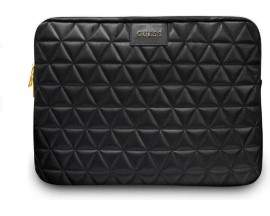 Husa Originala Guess Sleeve Diamond Leather Compatibila Cu Laptop/Macbook Pro/Air 13inch, Negru