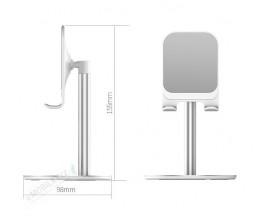 Suport 360 grade USAMS Pentru Telefon/ Tableta, aluminiu, US-ZJ048, Silver