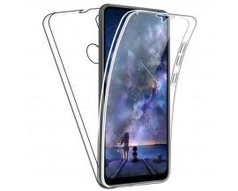 Husa 360 Grade Protectie Completa Upzz Protect Huawei Y6P ,silicon Si Policarbonat ,transparent