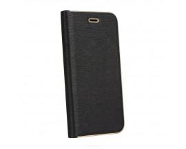 Husa Flip Carte Forcell Luna Book Carbon Samsung Galaxy A50 Negru
