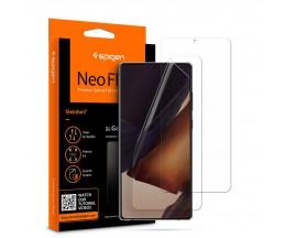 Folie Silicon Premium Neo Flex Spigen Samsung Galaxy Note 20, Transparenta Case Friendly 2 Bucati In Pachet