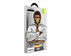 Folie Full Glue Premium Mr. Monkey Full Cover Pentru Huawei P30 Pro + rama Negru